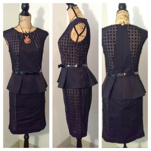 Nue by Shani Dresses - Nue by Shani black and lace dress sz 4